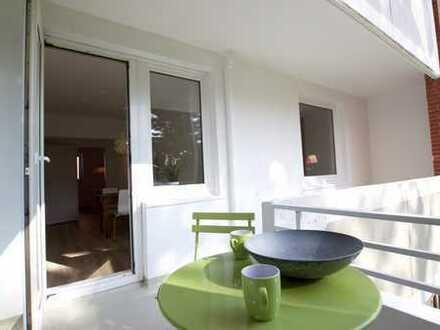 Frisch modernisiert: Wohnung mit Balkon und Küchenzeile ab 01.08.2018