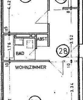Charmante 2 Zimmer wohnung im 3. OG....mit moderner Einbauküche!