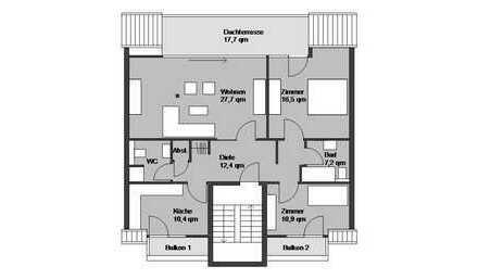 frisch modernisierte Penthousewohnung mit Dachterrasse direkt am See
