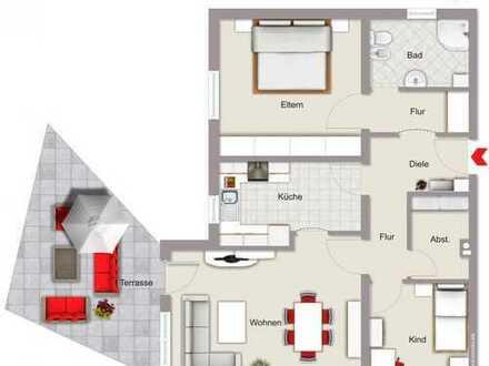 Eigenbezug oder Kapitalanlage – Beides ist möglich!!!Gepflegte 3 Zimmer-Erdgeschoßwohnung in Nandls