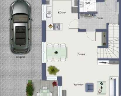 Haus Nr. 3 mit schönem Grundstück und Carport