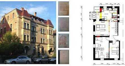 3-Zimmer-Wohnung in Jugendstilvilla am Hölderlinplatz in Stuttgart-West