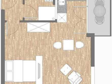 Wohnen am Westfalenpark, teilmöbliertes Apartment 36 qm mit Süd-Balkon