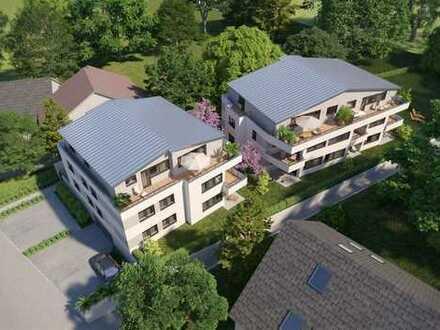 Zwei Mehrfamilienhäuser mit Tiefgarage in Karlsruhe-Hohenwettersbach.
