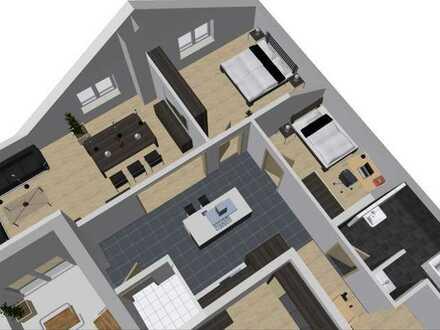 Erstbezug mit Balkon: schöne 3,5-Zimmer-DG-Wohnung in Neidenstein