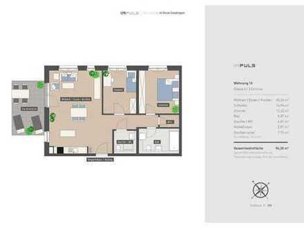 Hochwertige 3-Zimmer Wohnung in zentraler Lage