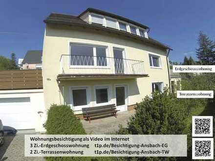 3+2 Zimmer Wohnungen in schöner Südhanglage mit Panoramablick ggf. getrennt vermietbar
