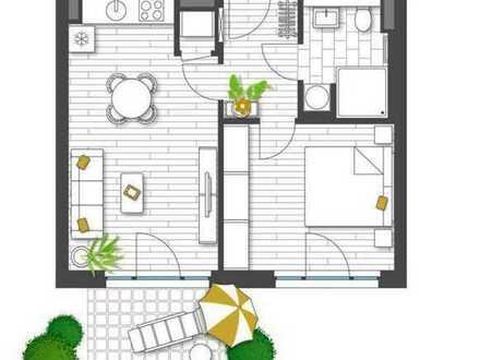 """Wohnen in """"G.O.L.D"""" - Charmante 2-Zimmer-Wohnung mit sonniger Gartenterrasse (barrierefrei!)"""