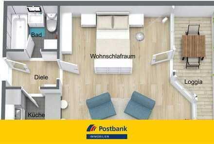 Großzügiges Apartment mit West-Loggia direkt am Südpark