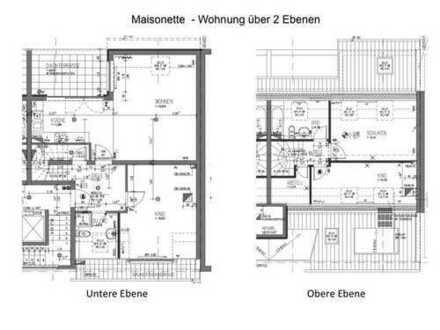 NUR PER MAIL! Schöne Dachgeschoß Maisonette, 4 Zimmerwohnung mit Terrasse Südlage und 1 Stellplatz