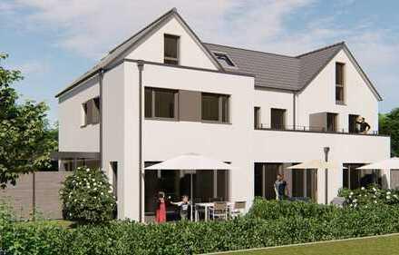 Eine wundervolle Eigentumswohnung (als Reiheneckhaus ausgebildet) mit Garten und Balkon