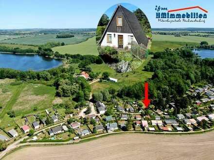 Finnhütte auf Eigentumsland zwischen Müriz-Nationalpark, Feldberger Seenlandschaft und Tollensesee