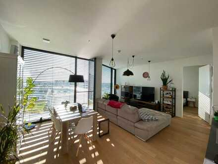 Stilvolle, lichtdurchflutete, loft-artige 2-Zimmer-Wohnung mit EBK in den FRIENDS TOWERN