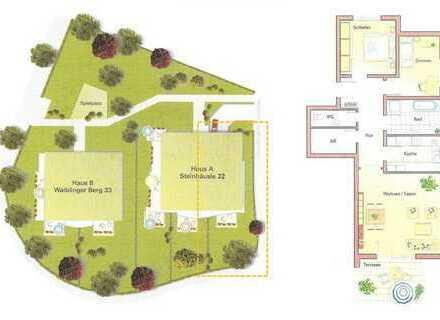 **** Helle und gehobene 3,5-Zimmer mit Terrasse & Garten im Wohnviertel Winnenden-Schelmenholz ****