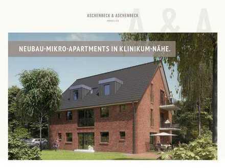 Attraktives Neubau Mikro Apartment in Klinikum & Utkiek Nähe - provisionsfrei!