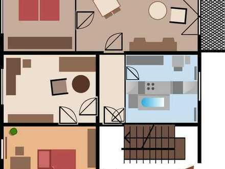 Frisch Renov preisw 4-R-Whg incl.kost-freier neuer Einbauküche u.mit Balkon ab sofort zu vermieten