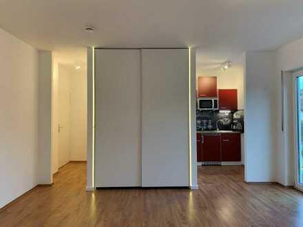 Erstbezug nach Sanierung: stilvolle 1-Zimmer-Wohnung mit EBK und Balkon in Höchberg