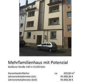"""Schönes Mehrfamilienhaus in absoluter Bestlage """"Deutzer Grenze"""" mit enormen Steigerunspotential"""