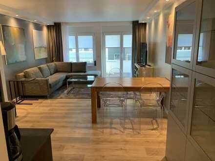 Innenstadt/Pempelfort:elegante 3 Zimmer, möbliert, mit klassischer Sandsteinfassade