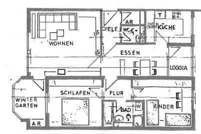 Sanierte 3-Zimmer-Wohnung mit Balkon und Wintergarten