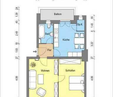 *helle 2 Zimmerwohnung mit Wohnküche und Balkon*