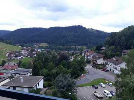 Über den Dächern von BaiersbronnSonnige, sehr gepflegte 3 -1/2 Zimmerwohnung mit Balkon u.Garage