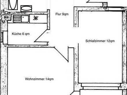 Erstbezug nach Sanierung: 2 Zimmer KDB (49qm) mit Terrasse & Garten