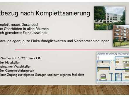 Erstbezug nach hochwertiger Komplettsanierung - 3,5 Zimmer Wohnung mit Garage & Stellplatz