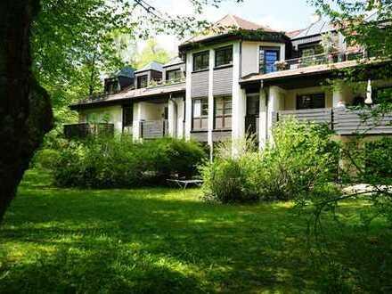 1 Grund mehr. - möblierte 2-Zimmer-Gartenwohnung auf phantastischem Parkgrundstück in Bestlage