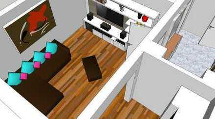 Preiswerte, gepflegte 2-Zimmer-Hochparterre-Wohnung mit Balkon und EBK in Regen