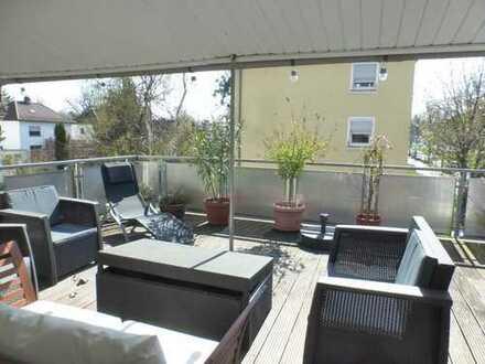 Wohnen mit riesiger Terrasse!!!