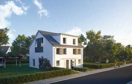 Neubau-Doppelhaushälften im Baugebiet Nordstadt II von Heppenheim