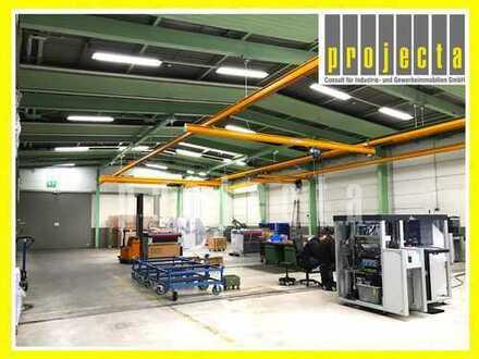 PROJECTA: ca. 1.700 m² eben. Produktionshalle   5 Kräne (0,25t - 0,5t)   5m UKB ***0151-51016422***
