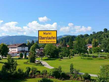 Oberstaufen (Hauptort): Vermietete, gemütliche 3 ZKB, 1.OG, Loggia, sep. WC, EBK, Parkett + TG