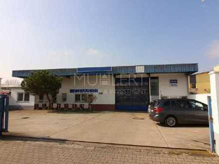 Erstklassiges Gewerbeanwesen mit Werkstatt-/Lagerhalle, Büroräumen und Freigelände