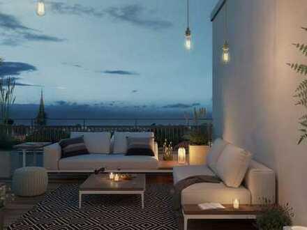 Wohnen auf höchstem Niveau! Erstklassiges 3-Zimmer-Penthouse mit. ca. 93 m² Dachter. in Haidhausen