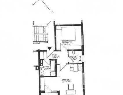 Gepflegte 2,5-Raum-Wohnung mit Balkon und Einbauküche in Würzburg-Heidingsfeld