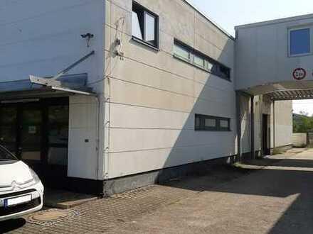 Neuere Gewerbehalle mit Stellplätzen für Handel & produz. Gewerbe zu verkaufen