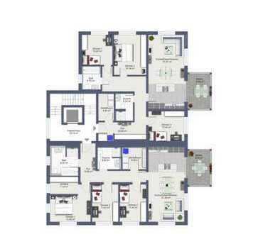 Erstbezug mit Terrasse: attraktive 4-Zimmer-EG-Wohnung in Wachenroth