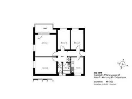 Familientraum! Vollsanierte 4 Zimmer-Wohnung mit Loggia