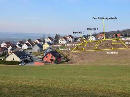 Noch 1 prov. freies Baugrundstücke mit Süd-Fernblick – Hohenstein-Ernstthal, Am Hasenhügel
