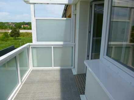 Zuhause wohlfühlen: Wohnung mit Balkon und Dusche in grüner Lage