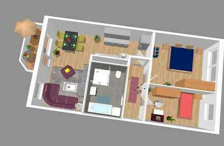 Ab Januar 2019 zu vermieten - Komplett neu und modern sanierte 3-Raum-Wohnung mit großem Bad