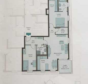 Erstbezug mit Loggia: stilvolle 3-Zimmer-Penthouse-Wohnung in Mannheim