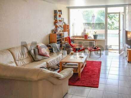 Zuhause mit Perspektive: Gut aufgeteilte 3-Zimmer-Wohnung inkl. Loggia mit Blick ins Grüne in Bieber