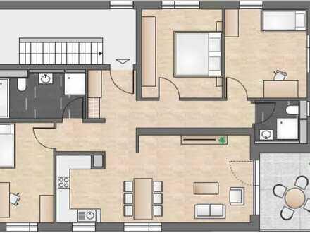Stilvolle, neuwertige 4-Zimmer-Wohnung mit Balkon und Einbauküche in Steinenbronn