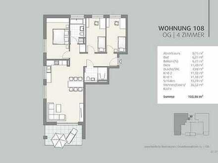 *NEU* Wohnen für die ganze Familie - 4-Zimmer Wohnung im 1. OG (108)