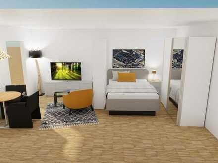 Stilvolle 1-Zimmer-Hochparterre-Wohnung mit EBK voll möbliert in Rastatt