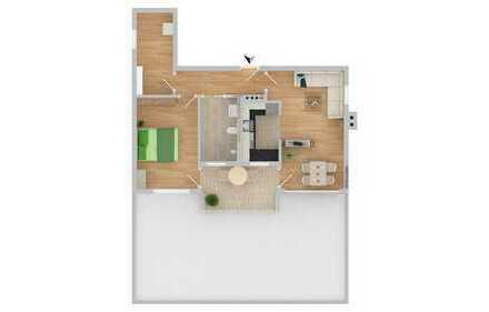 NEUBAU!!!! Betreutes Wohnen 2-Zimmer mit Terrasse (C16))