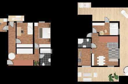 Wohnen auf 2 Ebenen - 70 m² Dachterrasse und 130 qm Wohnen